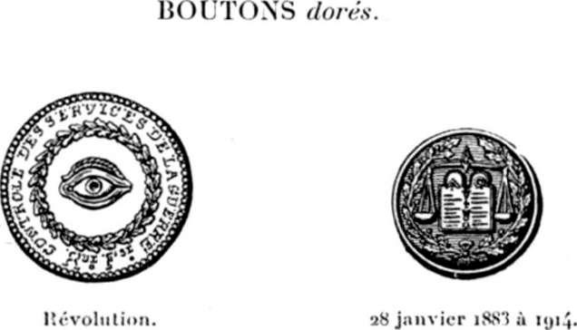 Le Bouton uniforme français Types militaires ARMÉE DE TERRE A 1 ... d2b5bdc4af0